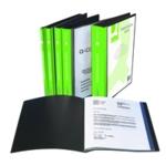 Q-Connect Pres Display Book 10Pkt Black