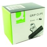 Q-Connect 51mm Black Grip Clip Pk10