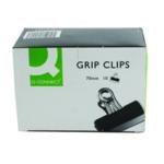 Q-Connect 70mm Black Grip Clip Pk10