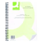 Q-Connect Wiro Ruled Duplicate Book A4