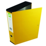 Q-Connect 75mm Box File FC Yellow Pk5