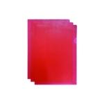 Q-Connect Cut Flush Folder A4 Red Pk100