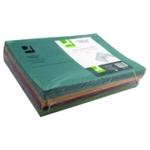 Q-Connect Sq Cut Folder 250g Asstd Pk100