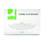 Q-Connect Combination Badge 54x90mm Pk50
