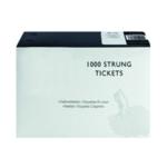 White 37x24mm Strung Ticket Pk1000