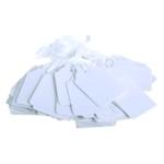 White 41x25mm Strung Ticket Pk1000