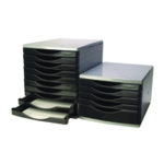 Q-Connect Black and Grey 5 Drawer Tower
