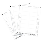 Q-Connect Name Badge 40x75mm Insert Pk25