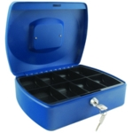 Q-Connect 10in Blue Cash Box