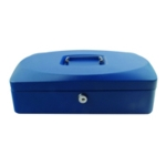 Q-Connect 12in Blue Cash Box