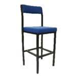 FF Jemini High Stool Backrest Blu