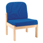 FF Arista Blue Reception Seat Bch Veneer