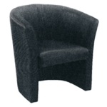 FF Arista Charcoal Tub Chair Fabric