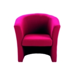 FF Arista Claret Tub Chair Fabric