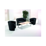 FF Arista Black Tub Chair Vinyl KF03527