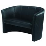 FF Avior Black 2 Seat Vinyl Tub Sofa