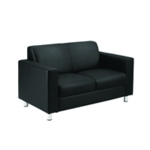 FF Avior Black Exec Leather Recep Sofa