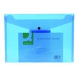 Q-Connect Document Folder A4 Blue Pk12