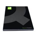 Q-Connect Hardback Notebook A4 Black Pk3