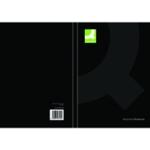 Q-Connect Hardback Notebook A5 Black Pk3