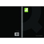 Q-Connect Hardback Notebook A4 Blk Pk3