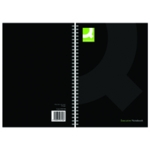 Q-Connect Hardback Notebook A5 Blk Pk3