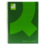 Q-Connect Hardback Notebook A4 Green Pk3