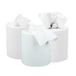 2Work 2 Ply Centrefeed Roll White Pk6
