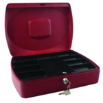 Q-Connect Red 12 Inch Cash Box
