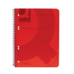 Q-Connect PP Spiral Pad A5 Red Pk5