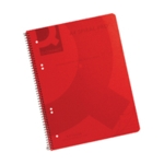 Q-Connect PP Spiral Pad A4 Red Pk5