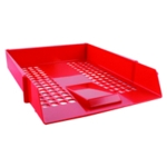 Q-Connect Red Plastic Letter Tray