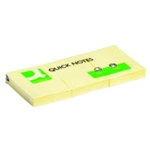 Q-Connect Yellow 38x51 Quick Notes Pk12