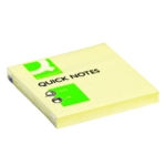 Q-Connect Yellow 76x76 Quick Notes Pk12