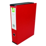 Q-Connect 75mm Box File FC Red Pk5