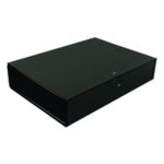 Q-Connect 75mm Box File FC Black Pk5