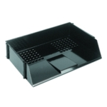 Q-Connect Black Wide Entry Letter Tray