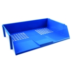 Q-Connect Blue Wide Entry Letter Tray