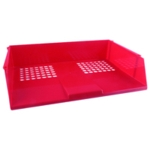 Q-Connect Red Wide Entry Letter Tray