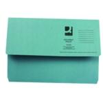 Q-Connect Document Wallet Fs Blue Pk50