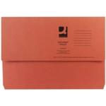 Q-Connect Document Wallet Fs Orange Pk50