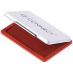 Q-Connect Red Medium Stamp Pad MetalCase