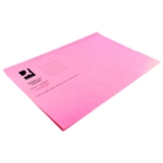 Q-Connect Sq Cut Folder 180gm Pink Pk100