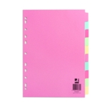 Q-Connect 10-Pt Subject Divider A4