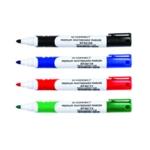 Q-Connect Wht Brd Bullet Marker Pk4 Astd