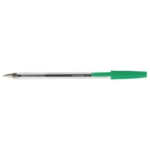 Q-Connect Ball Point Pen Med Green Pk20
