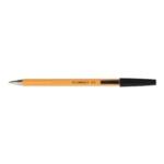 Q-Connect Ball Point Pen Fine Black Pk20