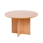 FF Arista Beech Round Meeting Table