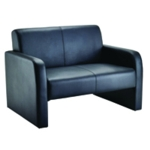 FF Arista Reception Sofa Flat Pk Blk Pu