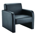 FF Arista Reception Chair Flat Pk Blk Pu